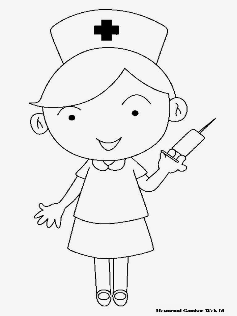 Gambar Animasi Dokter Berhijab