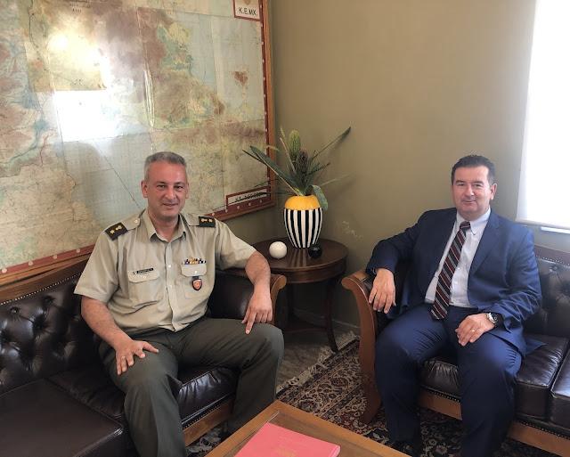 Συνάντηση Μαλτέζου με τον νέο Διοικητή του Στρατοπέδου Ναυπλίου
