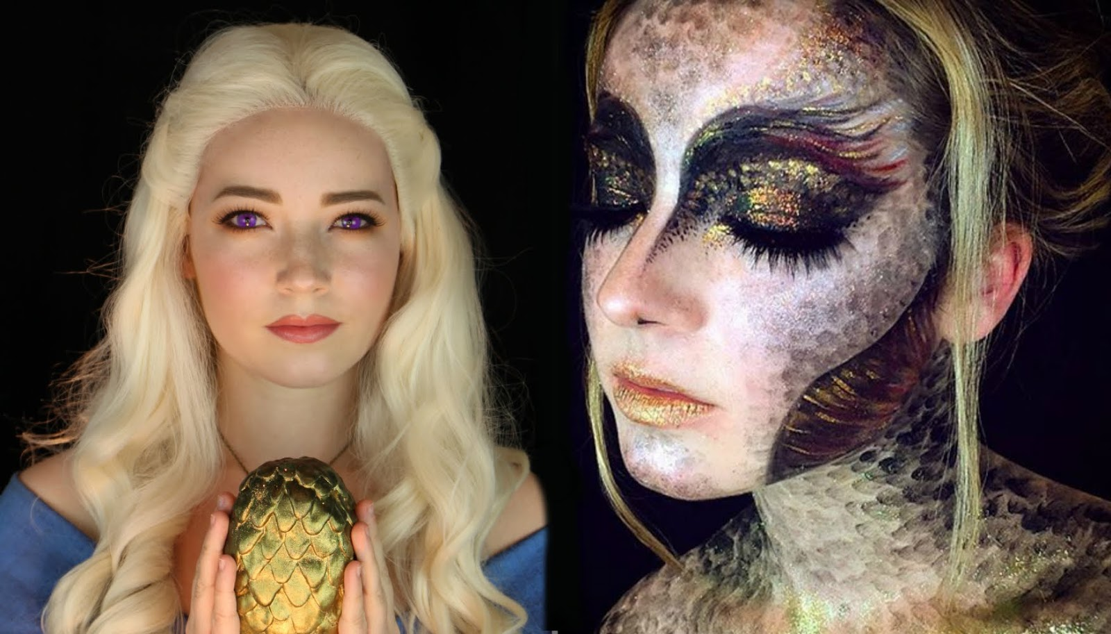 Eyedolize makeup two amazing makeup looks created by one artist in one video baditri Images