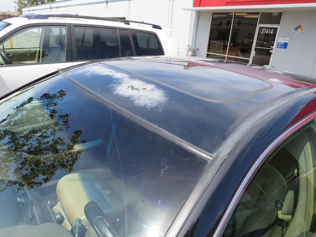 Delaminating or peeling clear coat on Honda Accord