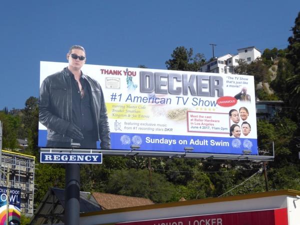 Decker season 2 Adult Swim billboard