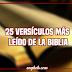 25 versículos más leído de la Biblia
