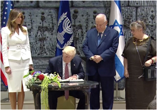 Donald Trump chega a Israel