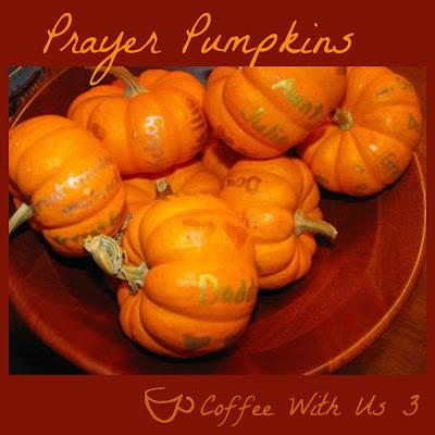 Prayer Pumpkins are a festive fall decor idea that helps kids remember to pray!