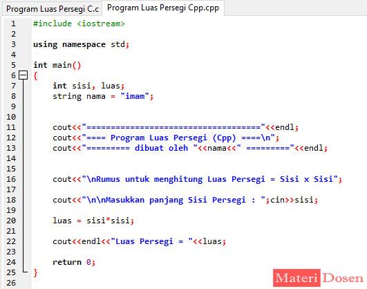 Tipe Data String pada Bahasa C++