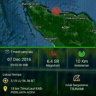 Data Gempa Aceh