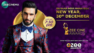 Zee Cine Awards 2018 HDTVRip 480p 31st December 2017  [700MB]