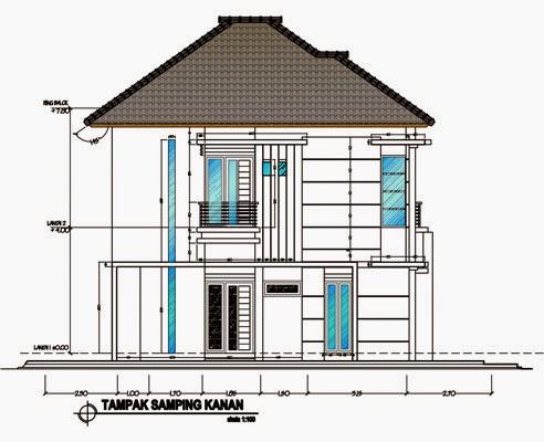 denah rumah 2 lantai model 2018: denah rumah 2 lantai luas