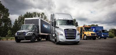 Daimler Ecascadia semi-truck