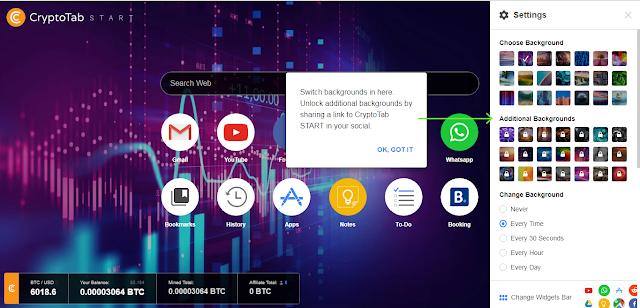 Bitcoin Gratis dari Situs Cryptotab Google Chrome