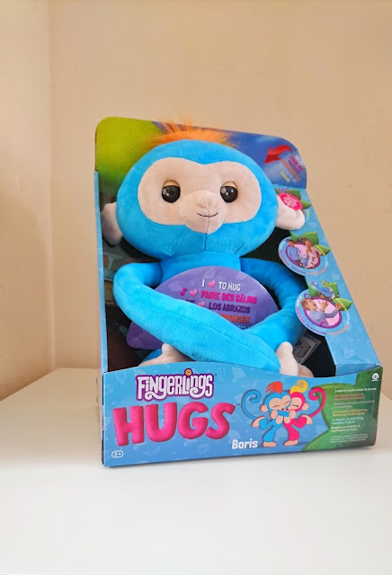 Fingerlings Hugs Review on Us Two Plus You - Boris the monkey