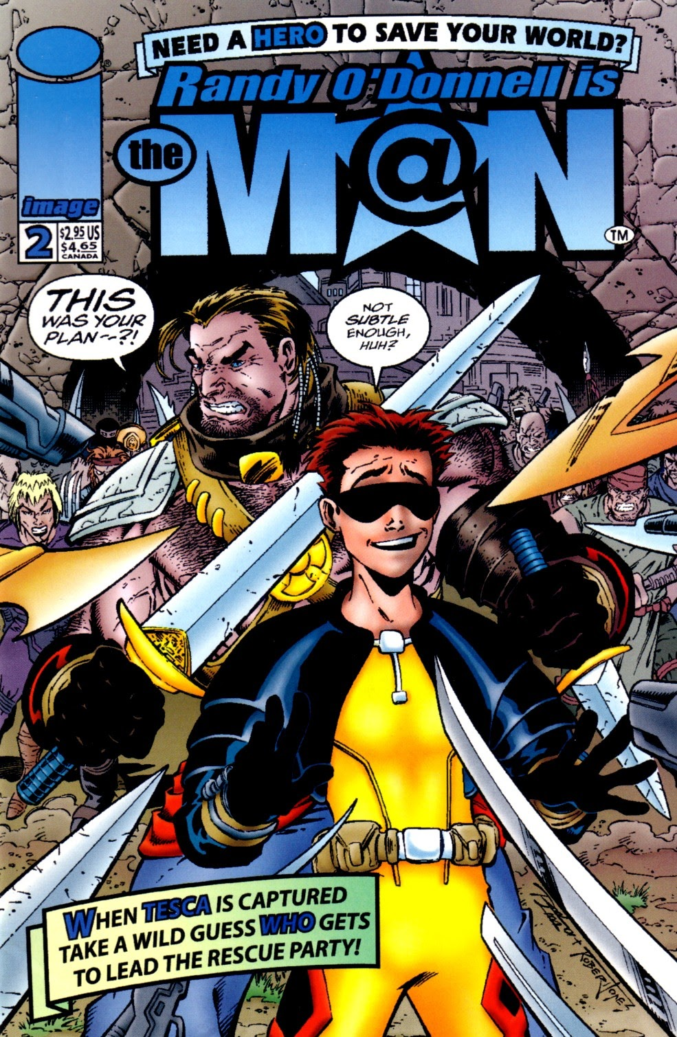 Read online Randy O'Donnell is The M@N comic -  Issue #2 - 1