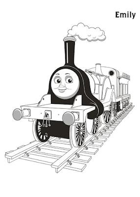 Gambar Mewarnai Thomas and Friends - 24