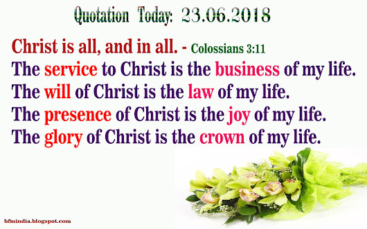Quotation Today: 23.06.2018
