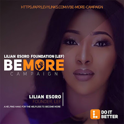 25038928 135212200476111 9084879961696763904 n - ENTERTAINMENT: Lilian Esoro is launching a #BeMore Campaign to care for the Helpless in Nigeria