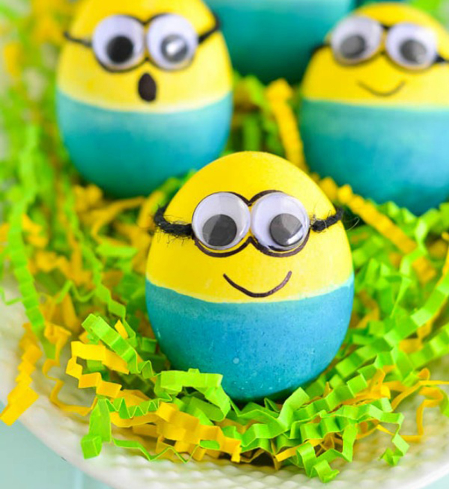 DIY huevos de pascua 'Minions'
