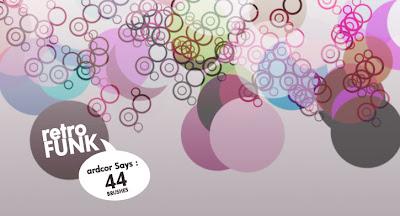 44 pinceles de circulos tipo retro funk