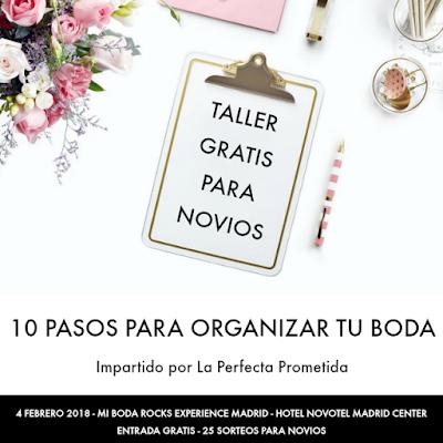 taller 10 pasos para organizar tu boda mi boda rocks experience