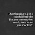 Overthink Kills