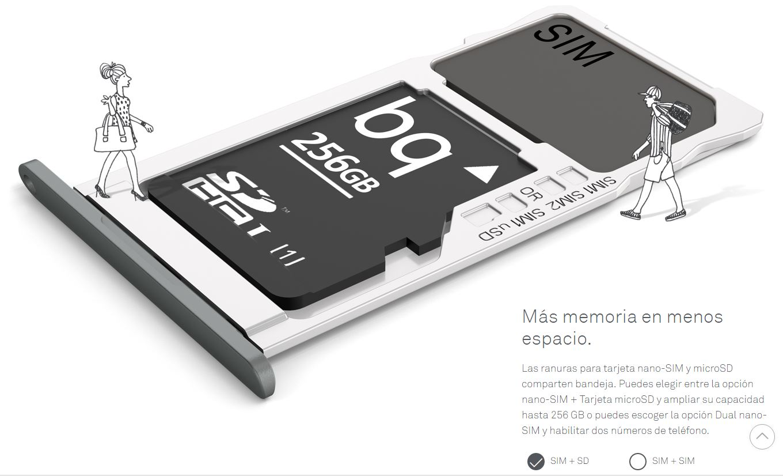 bq aquaris 5 tarjeta de memoria