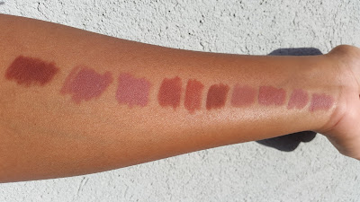 brown and nude lip liner swatches - www.modenmakeup.com