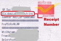 how to track speed post for atm card