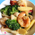 Stir Fry Broccoli & Prawns In Abalone Sauce ?????????