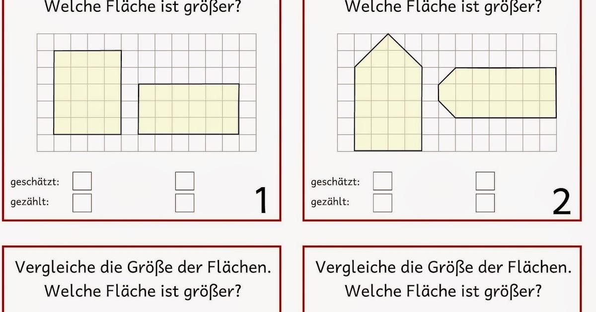 Lernstübchen: Flächeninhalt vergleichen (1)