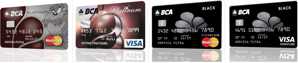 Kartu kredit BCA Platinum - Jenis Jenis Kartu Kredit Bca