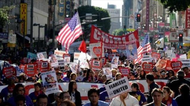 Protesta contra Trump en Los Ángeles en víspera de su ratificación
