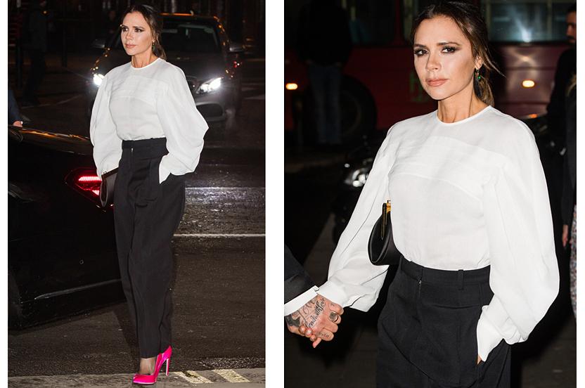 Rompe el clásico blanco y negro como Victoria Beckham
