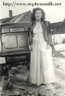 Photo of Carolyn Audrey Emmons going to prom West Paris, Maine