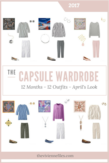 Build a Capsule Wardrobe in 12 Months, 12 Outfits - April 2017