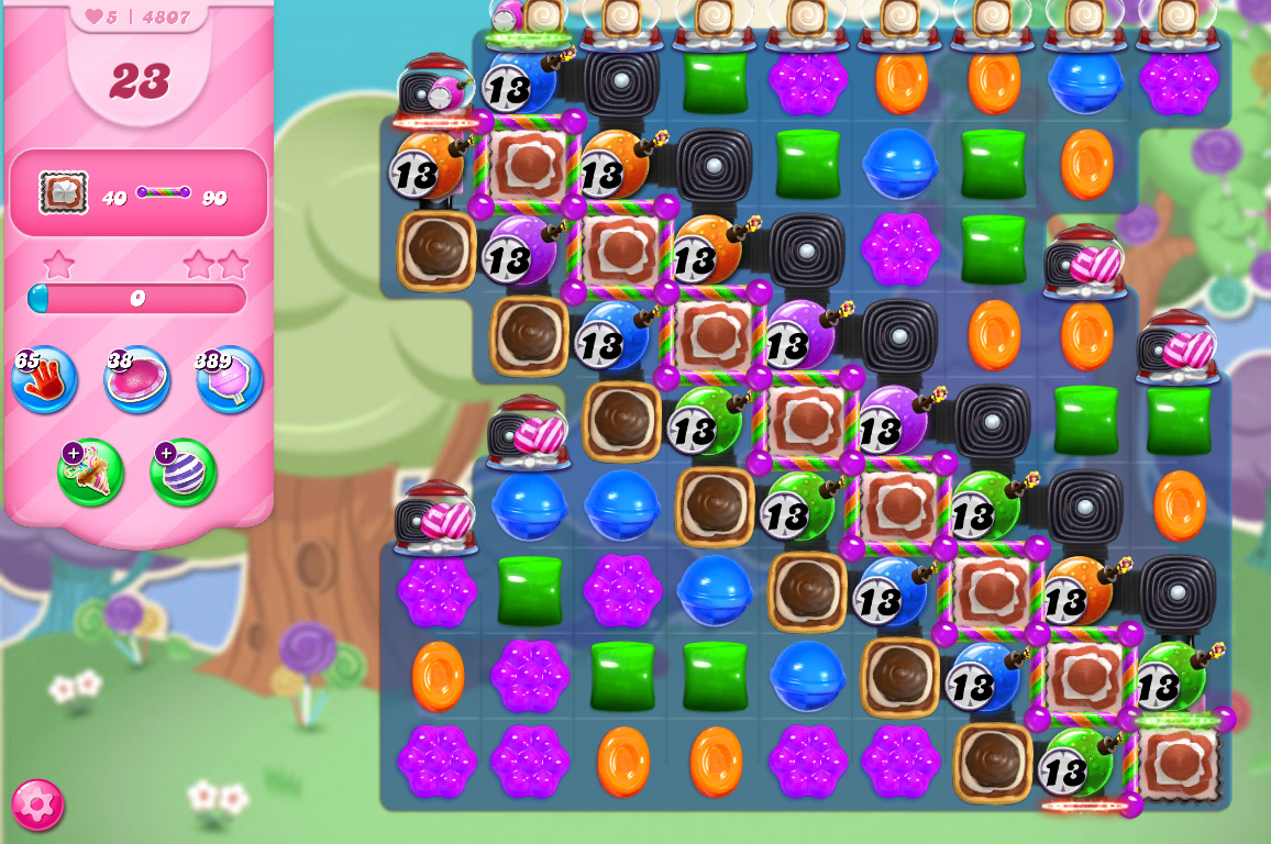 Candy Crush Saga level 4807