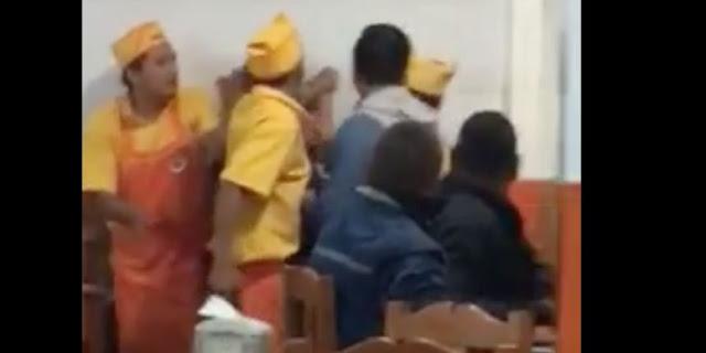 Taqueros golpean  brutalmente a mujer en Querétaro: Video