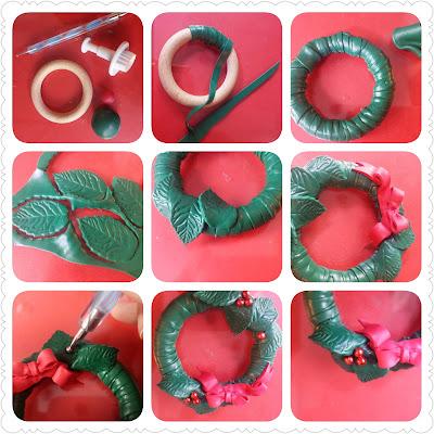 tutorial come realizzare ghirlanda portatovagliolo pasta polimerica alberta bijoux