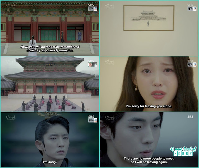 hae soo cried after reading about King Wang So and said she is sorry for lecving him alone no body at hios side now  - Moon Lovers Scarlet Heart Ryeo - Episode 20 Finale (Eng Sub)
