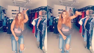 Laura Ikeji happily dancing with her Baby bump as she disables comments on her IG (Photos/Video)