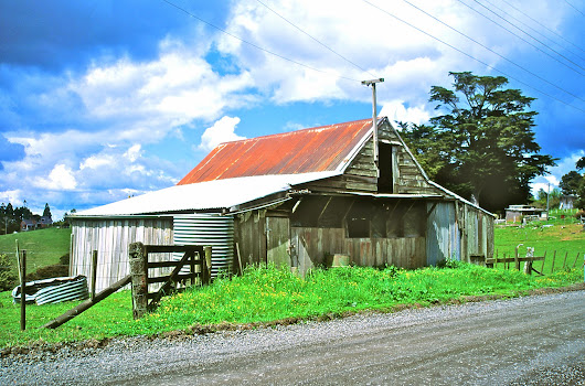 Don Donovan's World: Photoprint for Sale: Foleys Barn 1880, Albany Heights, Auckland, New Zealand