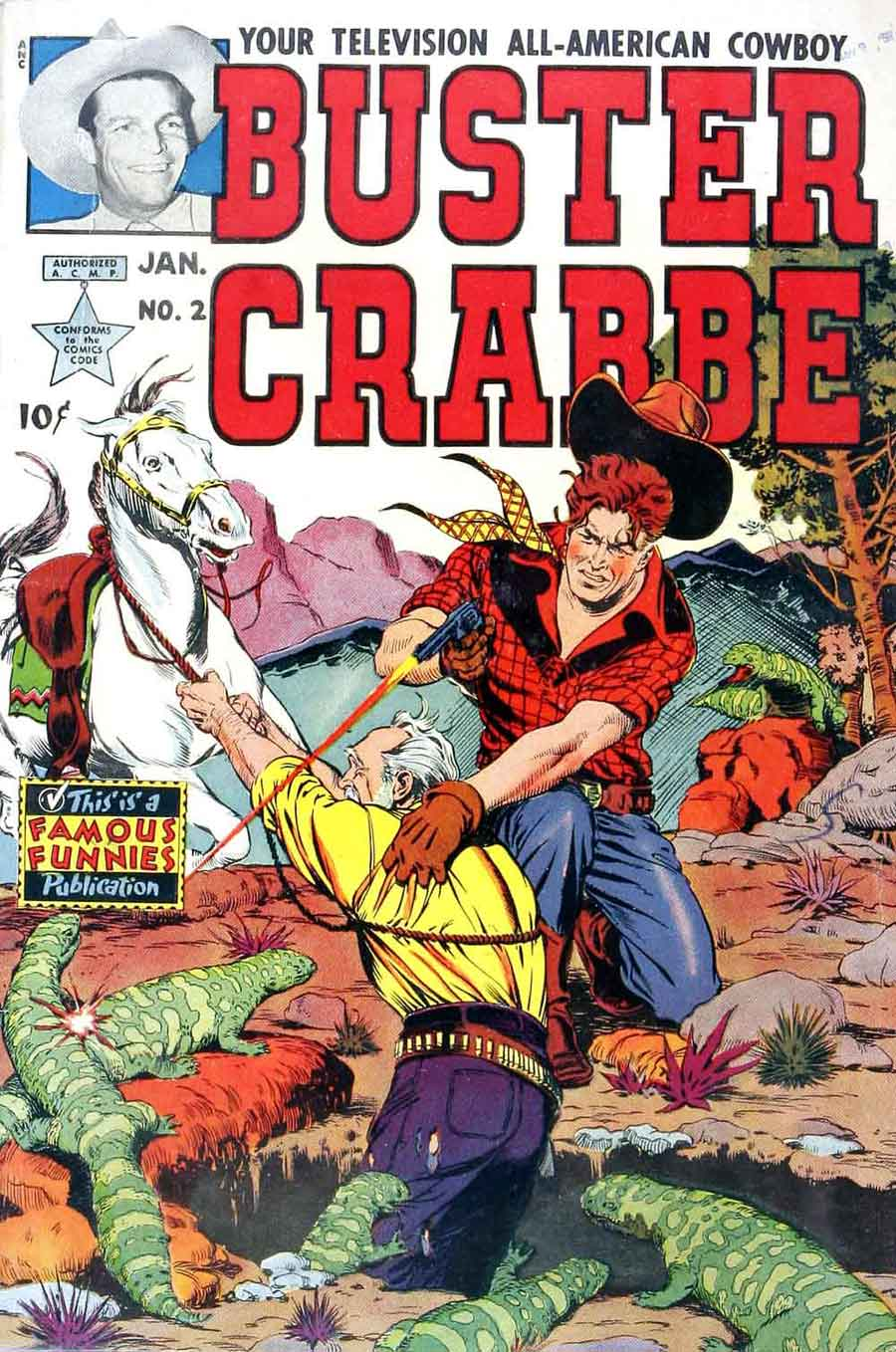 Buster Crabbe v1 #2 golden age comic book cover art by Al Williamson