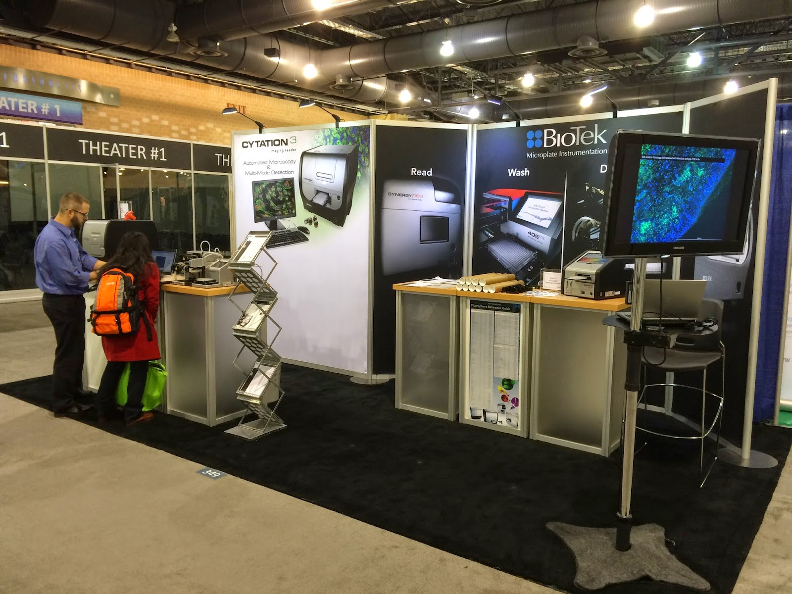 BioTek booth at ASCB