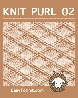 #Knit King Charles Brocade stitch, Easy Knit Purl Pattern #easytoknit