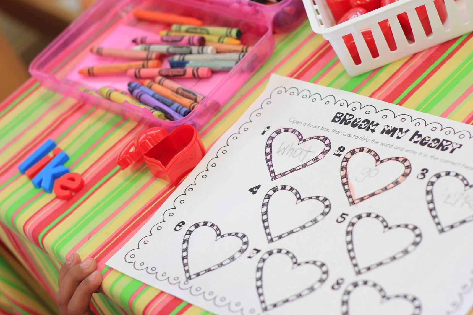 Mrs Ricca S Kindergarten Valentine S Day Ideas Freebie