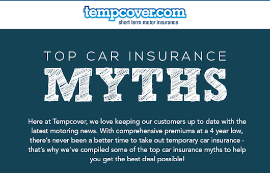 Tempcover's Top Car Insurance Myths Infographic | Cool Cars - Electric | Sports | Classics