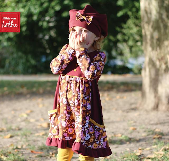 """Schmuckstück, Lilou und Beinschmeicheleien von Rosarosa aus dem wundervollen Stoff """"Harvest"""" von Enemenemeins und Lillestoff"""