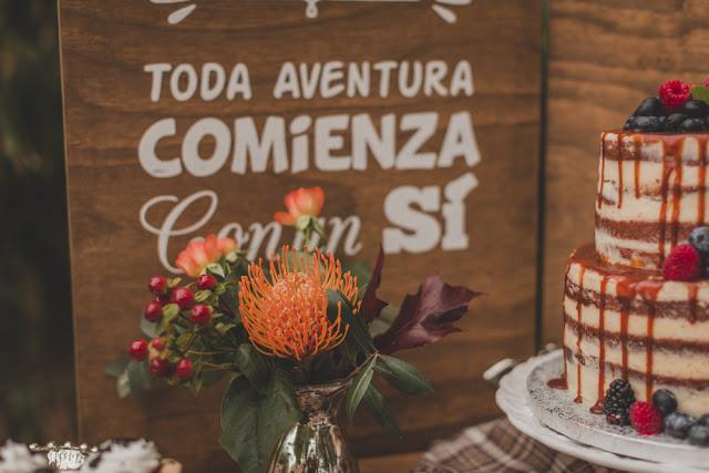 candy bar otoño tarta boda