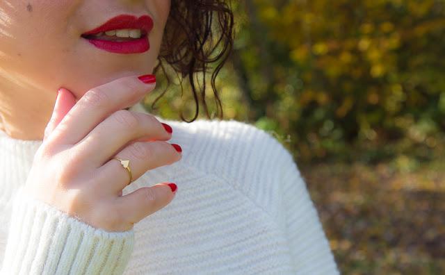 bague - coeur - vernis - rouge