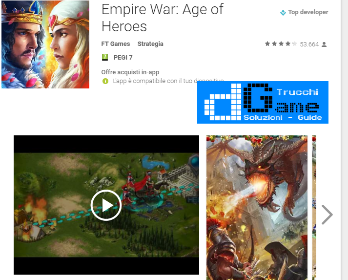 Trucchi Empire War: Age of Heroes Mod Apk Android v4.550