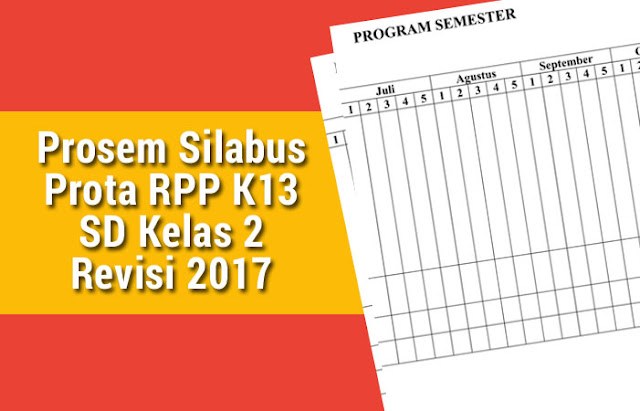 Prosem Silabus Prota RPP K13 SD Kelas 2 Revisi 2017