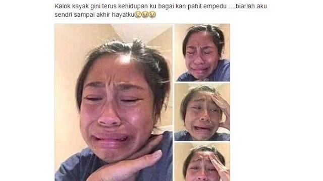 Unggah Foto Menangis di Facebook Cewek ini Mendapat Ribuan Komentar Netizen